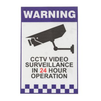Warning CCTV Security Surveillance Camera Decal Sticker Sign 66mmx100mm Internal