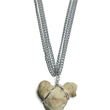 Fossilized Shark Tooth Necklace, Large Shark Tooth Necklace