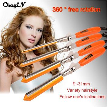 09-31mm Ceramic Barrel Professional Hair Curling Iron Wand Hair Curler Roller Temperature Adjustable Hair Styling Tool 110-240V