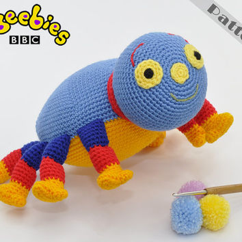 Cbeebies Woolly Spider Soft Toy From Woolly And Tig CROCHET PATTERN Amigurumi
