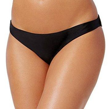 Rachel Roy Womens RuchedBack Cheeky Bikini Bottoms Black M