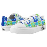 Colourful Elephants Shoes Printed Shoes