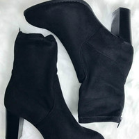 Chimney Rock Black Suede Zinc Bootie