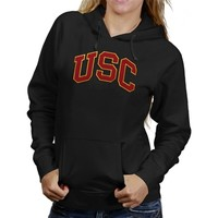 USC Trojans Breakwater Pullover Ladies Hooded Sweatshirt - Black