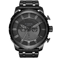 Diesel Mens Stronghold Black Chronograph Watch - Black