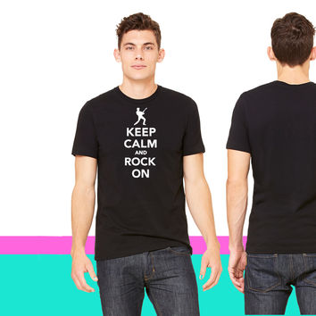 Keep calm and Rock on_ unisex t-shirt