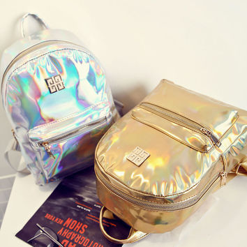 Women's Fashion Holographic Backpack