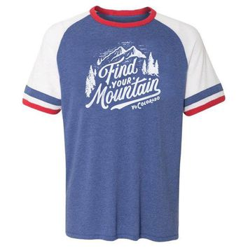 Find Your Mountain Vintage Jersey T-Shirt