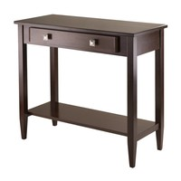 Richmond Console Hall Table Tapered Leg and Single Drawer by Winsome Woods