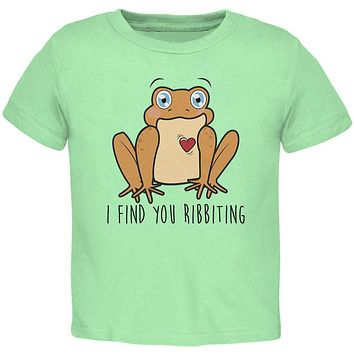 Toad I Find You Riveting Funny Pun Valentine's Day Toddler T Shirt