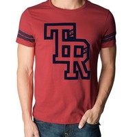 True Religion Hand Picked Tr Connected Mens T-shirt - True Red
