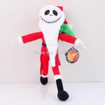 The Nightmare Before Christmas 12 Inch Jack Skellington Sandy Claws Plush Christmas Edition Kids Toy Stuffed Dolls Xmas Gifts