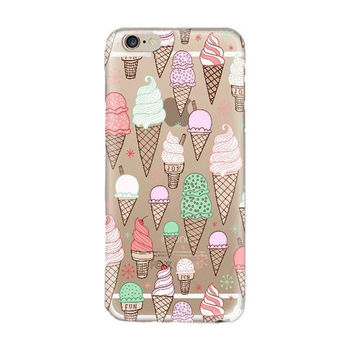 Sugar Ice Cream Cones Soft Case For Apple iPhone 6