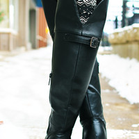 Stand Tall Riding Boot - Black