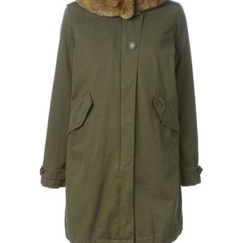 Woolrich rabbit fur trim parka coat