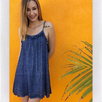 OFF INTO THE SUNSET DRESS- NAVY from shopoceansoul