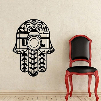Hamsa Hand E Vinyl Wall Decal