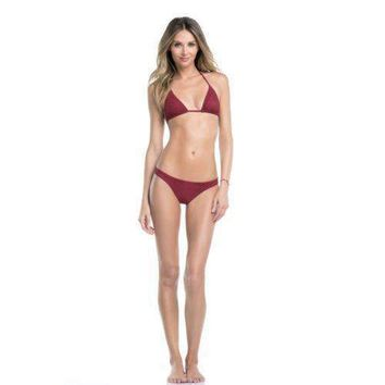 ale by Alessandra Holy Cow Laser Cut Triangle Bikini Top