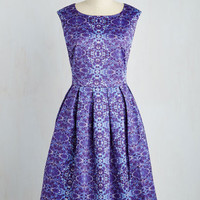 50s Long Sleeveless Fit & Flare Wishing Pond Pretty Dress