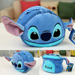 Cute Stitch Standing Storage Bag with hand strap Cosmetic Toy Stationary Case
