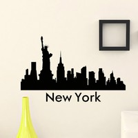 Wall Decal Vinyl Sticker New York Skyline City Scape Silhouette Decor Sb107