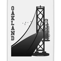 "Oakland Text Bay Bridge Fridge Magnet 2""x3"