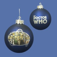 "3.25"" Doctor Who ""The Many Faces of the Doctor"" Glass Disc Christmas Ornament"