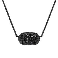 Elisa Pendant Necklace in Black Drusy - Kendra Scott Jewelry