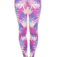 Pink Weed Leggings