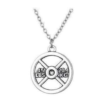 45 lb Weight Plate Pendant Necklace