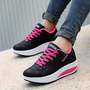 Women Sneakers Leather breathable and Shoes Sport Shoes Shake Shoes Fitness Shoes