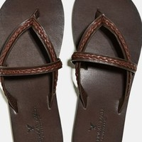 's Braided Sandal (Dark Brown)