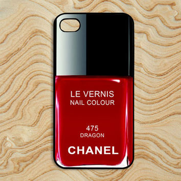 iPhone 4/4S Case  Chanel Nail Polish Make Up Dragon by iPhoneiCase