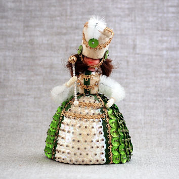 Li'l Missy beaded sequin doll vintage Majorette #13332 by Walco Bead Co.