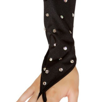 Rhinestone Studded Gloves