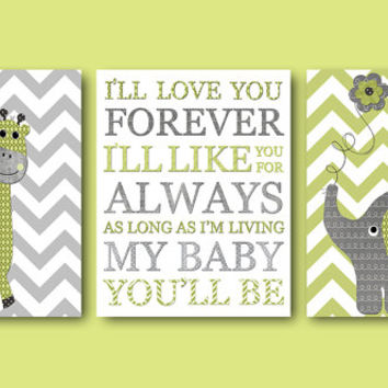 Gray Baby Nursery Decor Baby Boy Nursery Decor Kids Room Decor Kids Wall Art Elephant Nursery Wall Art Kid Art Boy Print set of 3 11x14 Gray