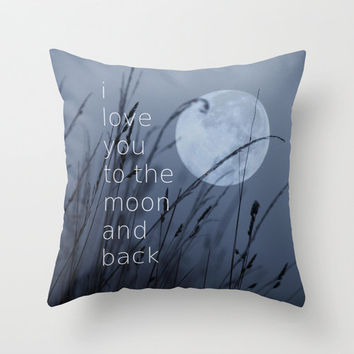 VALENTINES   *** I Love You To The Moon And Back **PILLOW  by SUNLIGHT STUDIOS in 3 Sizes with FREE SHIPPING THIS WEEK JAN 27 !!!