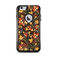 The Colorful Floral Pattern with Strawberries Apple iPhone 6 Plus Otterbox Commuter Case Skin Set