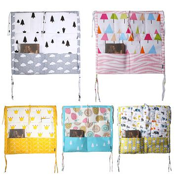 Bed Hanging Storage Bag Multi-functional Baby Bedding Muslin Tree Brand Baby Cot  Baby Crib Hanging Storage Bag Baby Blanket