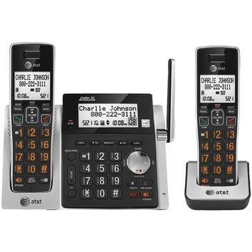 Att Cordless Answering System With Dual Caller Id And Call Waiting (2-handset System)