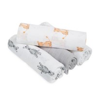 aden® by aden + anais® Safari Babes 4-Pack Classic Muslin Swaddles
