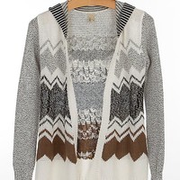 Gimmicks By BKE Open Weave Cardigan Sweater