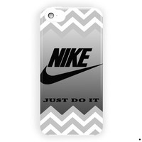 Gray Chevron Nike Just Doit Style For iPhone 5 / 5S / 5C Case