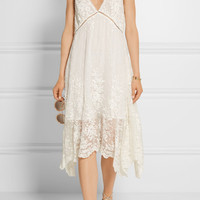 Zimmermann - Roza asymmetric embroidered silk-georgette dress