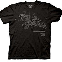 Firefly Serenity Schematic Sci Fi TV Licensed Adult T Shirt