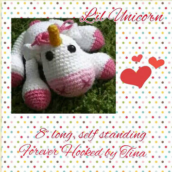 Baby Unicorn, Stuffed toy, crochet stuffed animals, amigurumi