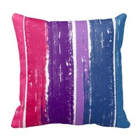 BISEXUAL PRIDE INK BAR THROW PILLOWS