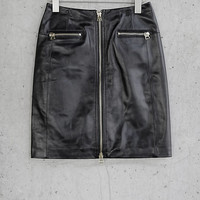 Leather Express Edition A-line Zipper Skirt from EXPRESS