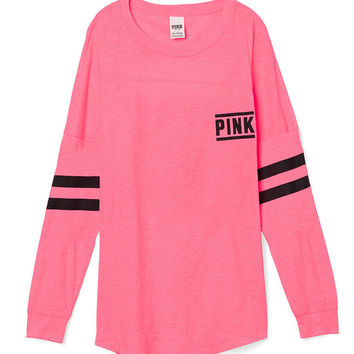 Open Back Varsity Crew Tee - PINK - from Victoria's Secret