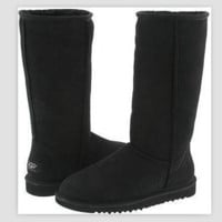 """UGG"" Women Fashion Wool Snow Boots simple high boots Black"